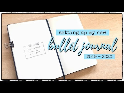 PLAN WITH ME | New Bullet Journal Setup | 2019 - 2020