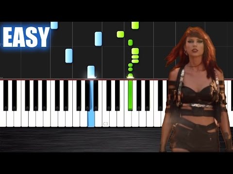 Taylor Swift - Bad Blood - EASY Piano Tutorial by PlutaX - Synthesia