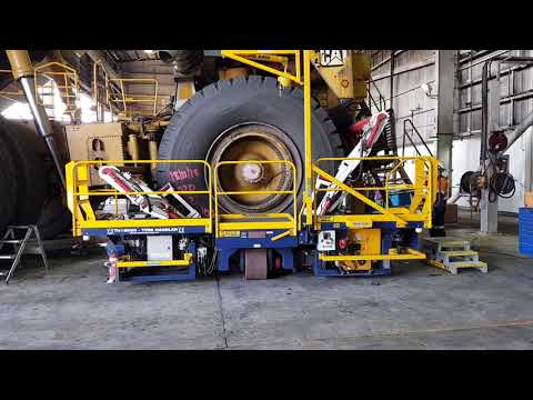 BMAs Saraji Mine Leading The Way With Tyre Change Safety
