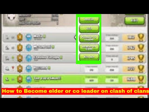 How to become a co-leader or elder on clash of clans fast (top 3)
