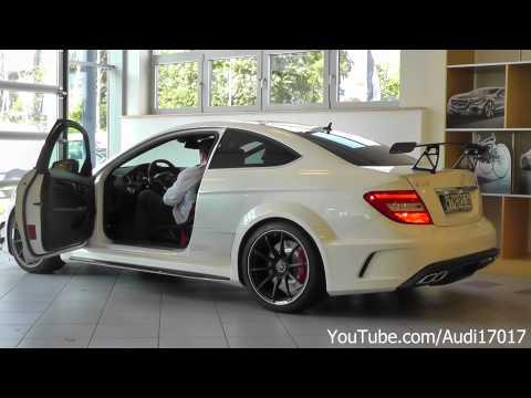 Mercedes C63 AMG Black Series - Details / 3x Start Up / Loud Sound [Full HD]
