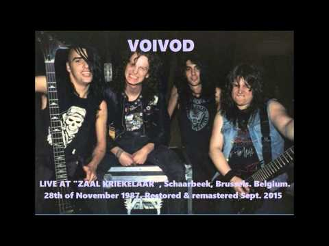 VOIVOD (Can) Live in Brussels, Belgium. 28th November 1987 (audio only, remastered) RARE thrash!!!