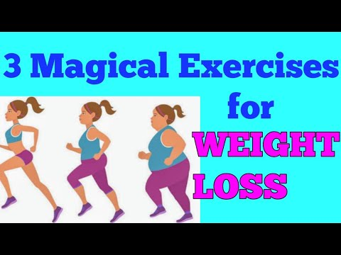3 magical  easy exercises/yoga for weight loss  youtube