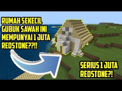 RUMAH SEKECIL INI PUNYA 1 JUTA REDSTONE???!!!!   Minecraft: PE Indonesia   Showcase Map