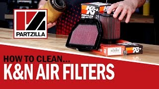 How to Clean a K&N Air Filter  | Cleaning a Reusable Air Filter | Partzilla.com