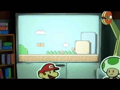 Paper Mario Color Splash: Retro NES Mario Bros 3 Level - First Look (1080p 60fps)