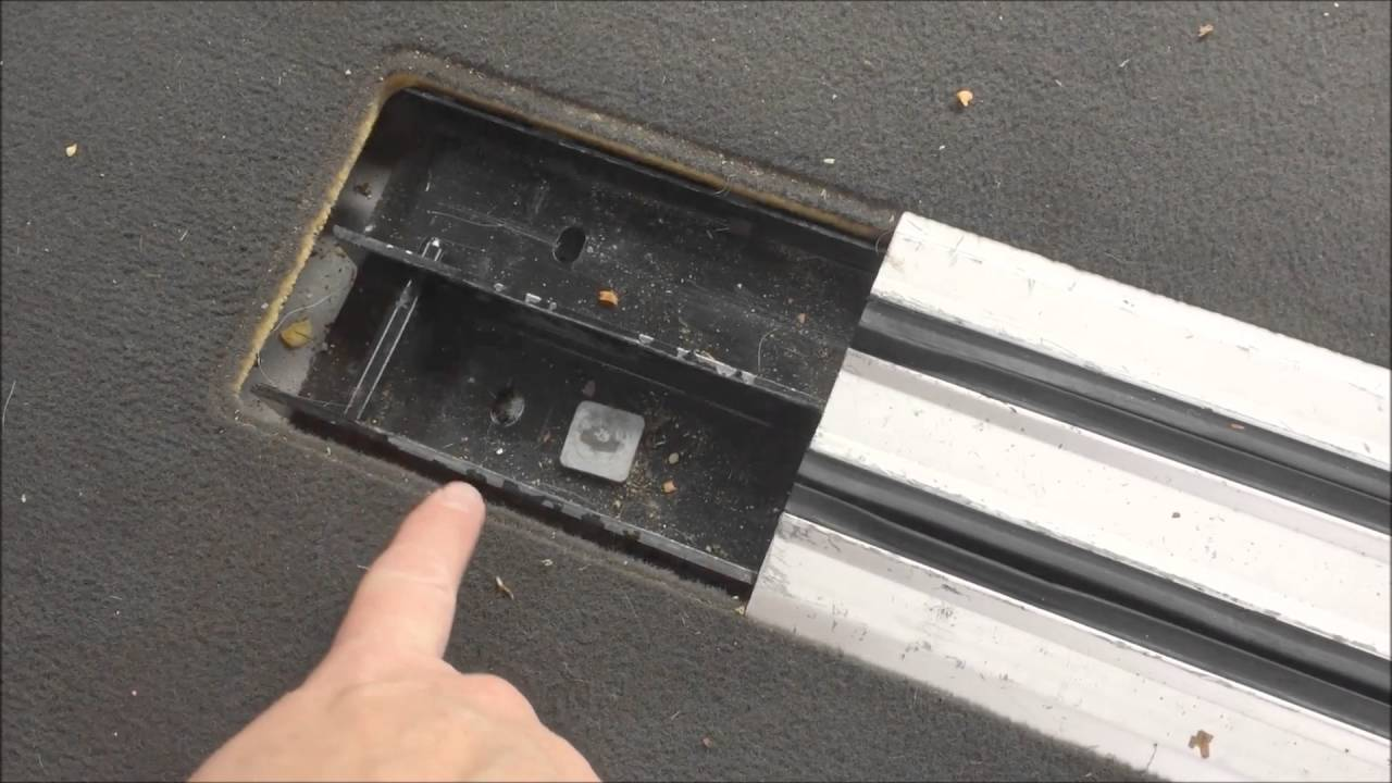 Removing VW Caravelle Rear Rail Seats
