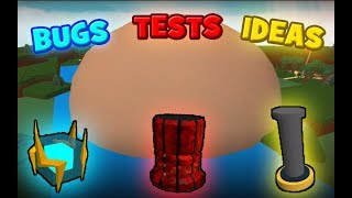 NEW BLOCKS! BUGS, TESTS and IDEAS | Build a Boat for Treasure ROBLOX