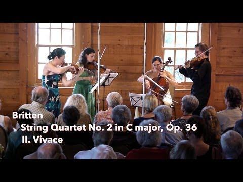 Britten: String Quartet No. 2, II. Vivace - ChamberFest Cleveland (2013)