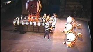 The famous drum group of Japan,in a concert at Athens GREECE.Summer...
