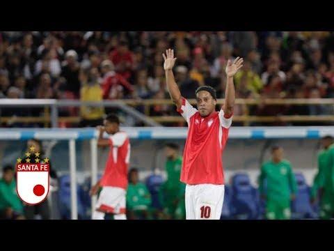 18/10/2019 Возвращение Роналдиньо | Товарищеский матч | Колумбия | Санта Фе - Насьональ 2-0