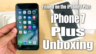 iPhone 7 Plus Unboxing (128GB/Matte Black) Filmed On The iPhone 7 Plus in 4K
