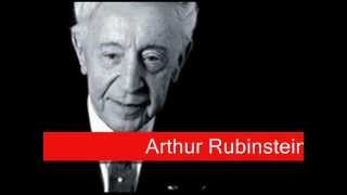 Arthur Rubinstein: Chopin - Waltz No. 1 Op. 18 in E flat major