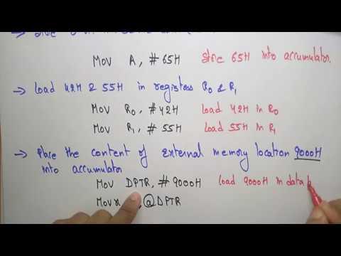 Simple programs of 8051   Part-1/2   Embedded Systems   Lec-6    Bhanu priya