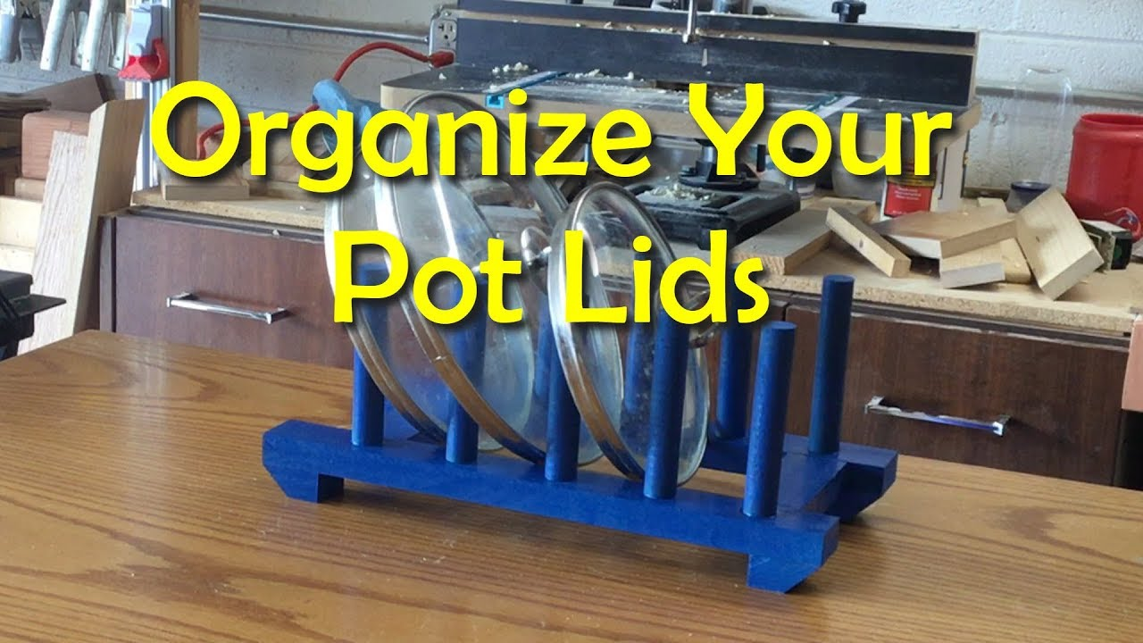 Organizing The Kitchen With A Pot Lid Holder