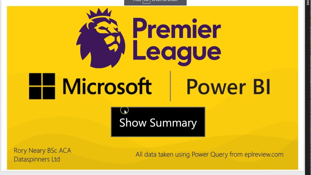 Premier League 1718 Power BI Style