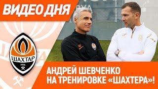 Видео дня Андрей Шевченко на тренировке Шахтера