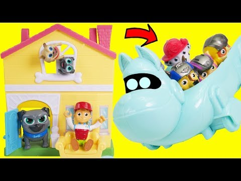 Puppy Dog Pals Adventure Playset with Skye Swimming Pool Jail Bus