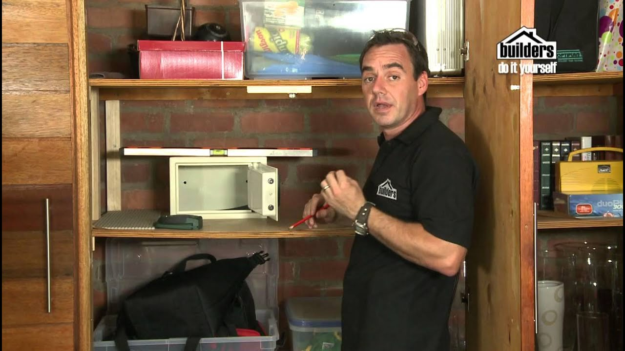 Builders diy home security installing a safe youtube for How to install a floor safe in concrete