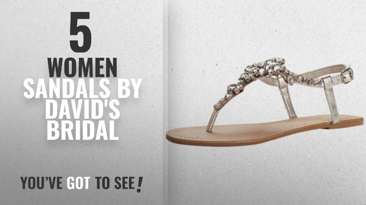 c6524f4f0b7c Top 5 David s Bridal Women Sandals  2018   David s Bridal Jeweled T Strap  Sandal Style Gemma