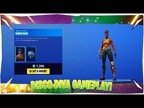 Fortnite Disco Diva Skin Gameplay!