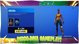 Fortnite Disco Diva Skin Gameplay!