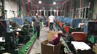 Cleaning ball making machine in factory production