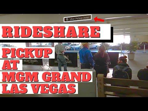 Las Vegas Uber Lyft Rideshare Pick Up Location at MGM Hotel Casino