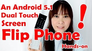 Japan Freetel Musashi FTJ161A: Android 5.1 Dual Touch Screen Flip Phone – Hands on review