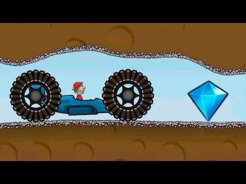 МАШИНКИ Hill Climb Racing #4 мультяшная игра про тачки с большими колесами и гоночной машинкой Кида