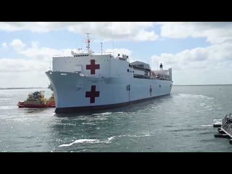 USNS Mercy departs San Diego for Pacific Partnership 2018