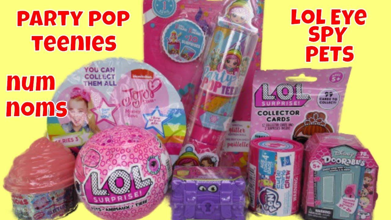 NUM NOMS Unboxing Toy Surprises LOL PETS EYE SPY Party POP Teenies Double Toys Kids Review