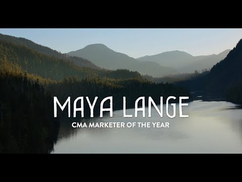 Maya Lange CMA Marketer of the Year Award Video