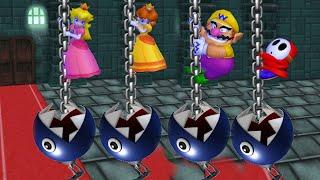 Mario Party 9 Garden Battle - Peach Vs Daisy Vs Wario Vs Shy Guy| Cartoons Mee