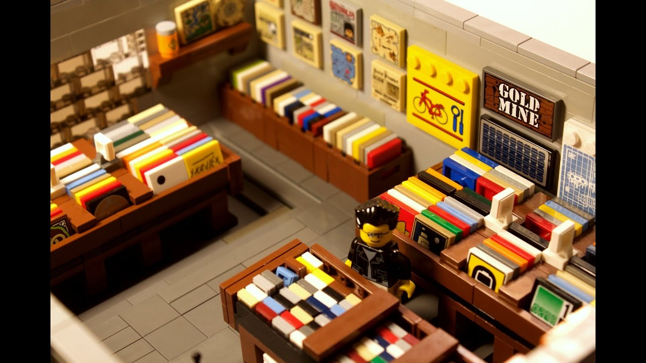 Custom Lego Retro Record Store Modular Moc Everyday