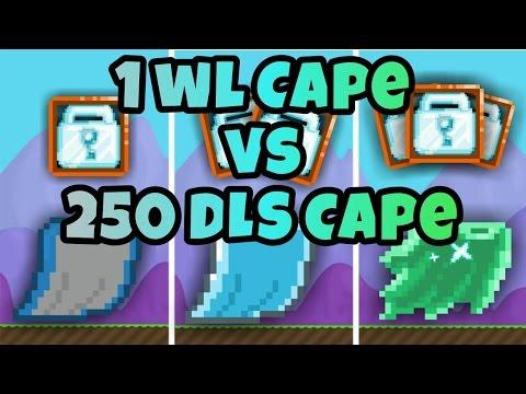 1 WL Cape Vs 250 Dls Cape | Growtopia