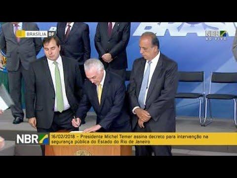 Temer ordena al ejército frenar al crimen organizado en Rio