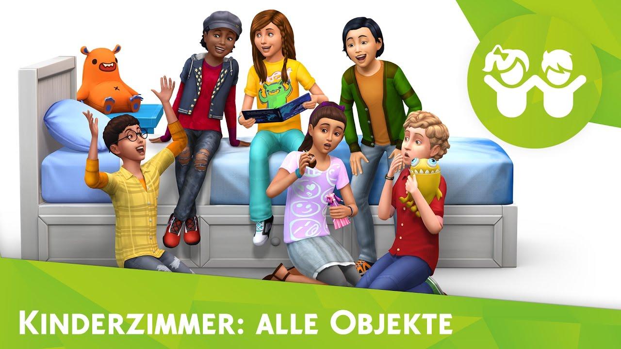 die sims 4: kinderzimmer-accessoires | alle objekte im cas! - youtube