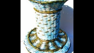 ▬► How to weave oval bottom of the basket. Promo.