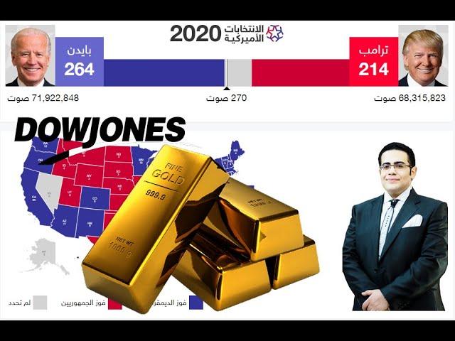 نظرة الى اسواق الذهب و الداوجونز فى اسبوع الانتخابات الامريكية