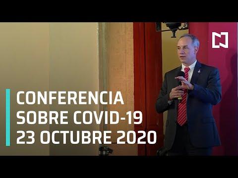 Conferencia Covid-19 en México - 23 octubre 2020