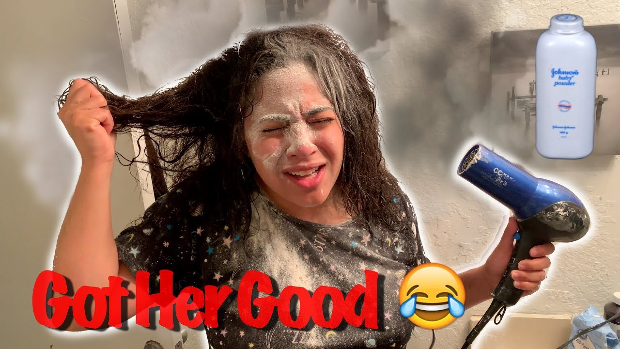 Download BABY POWDER IN HAIR DRYER PRANK ON WIFE!!!  *Hilarious*