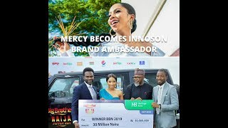 BBN2019 WINNER MERCY BECOMES INNOSON BRAND AMBASSADOR