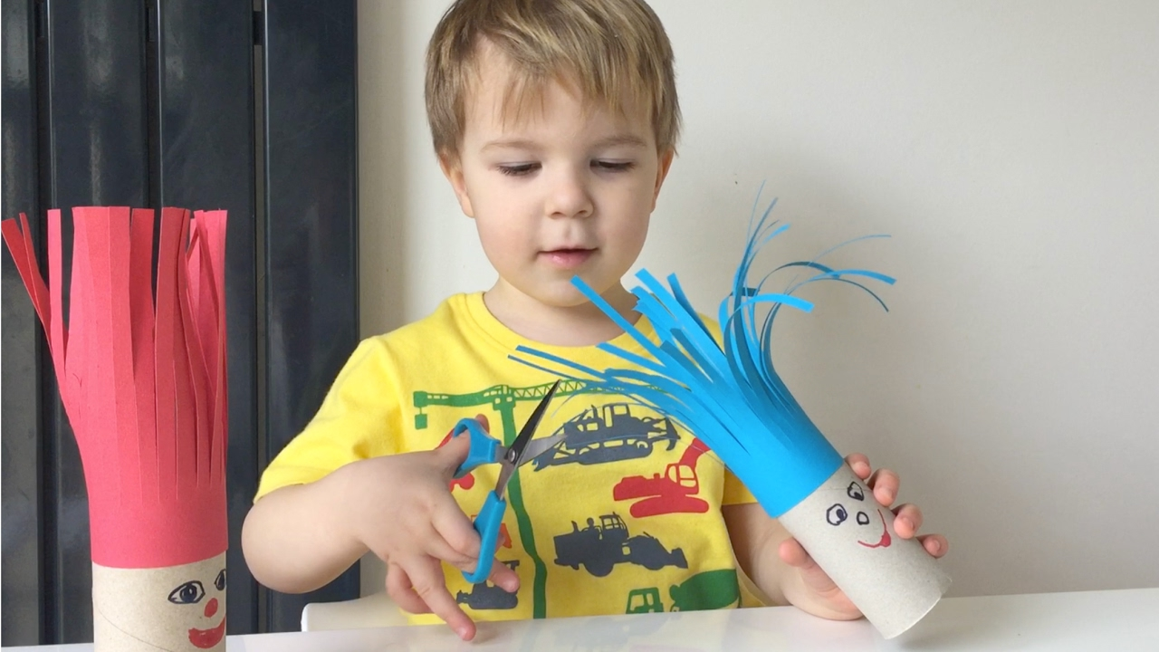 Fun Cutting Activity For Kids - YouTube