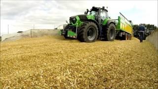 DEUTZ FAHR 9340ttv Maisernte 2015 & agribumper FRONTGEWICHT & Joskin Drakkar hackselwagen Krone BigX