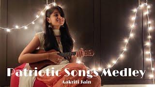Gambar cover Patriotic Songs Medley || Republic Day Special || Ukulele Cover || Aakriti Jain