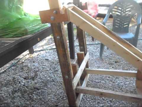 Banco para trabajar pecho fabricado con palet youtube - Bancos de palets de madera ...