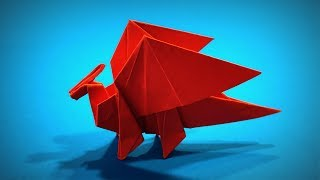 Origami Ancient Dragon | How to Make a Paper Ancient Dragon DIY | Easy Origami ART | Paper Crafts