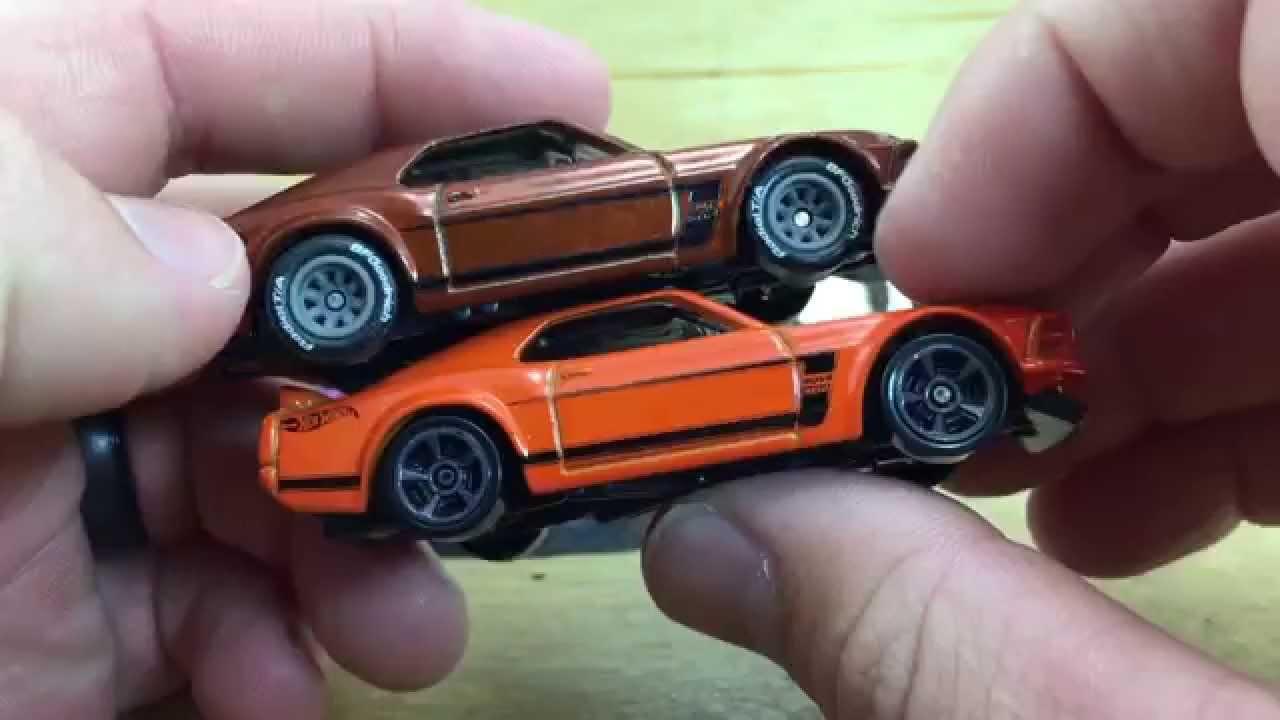 Hot Wheels E Case Super Treasure Hunt Mustang Boss And