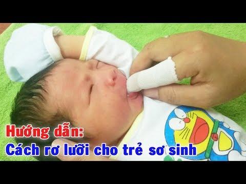 Hướng dẫn: Cách rơ lưỡi cho trẻ sơ sinh tại nhà ✩ Mẹ và Bé